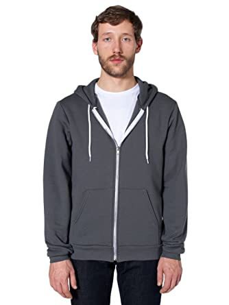 813ec24163af Amazon.com: American Apparel Men's Unisex Flex Fleece Zip Hoodie ...