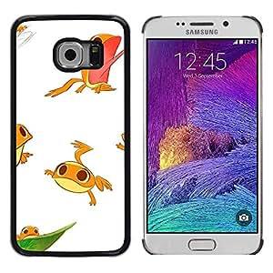 Caucho caso de Shell duro de la cubierta de accesorios de protección BY RAYDREAMMM - Samsung Galaxy S6 EDGE SM-G925 - Cute Kids Funny Character