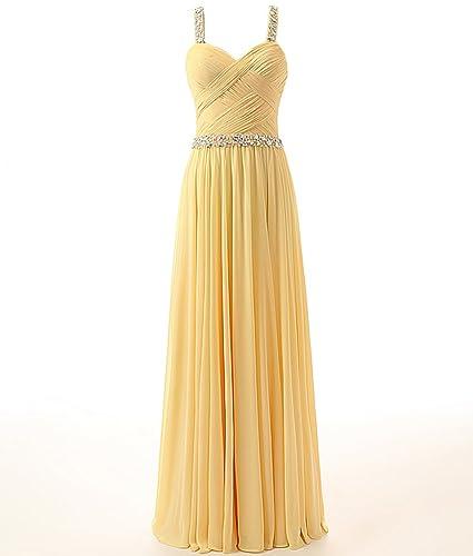 Changjie Women's Evening Gown Bead Long Chiffon Bridesmaid Party Prom Dress