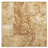 Achim Home Furnishings FTVMA42020 Nexus 12-Inch Vinyl Tile, Marble Beige Terracotta, 20-Pack