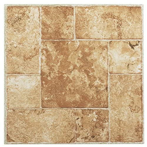 Beige Adhesive Vinyl Floor Tiles Amazon