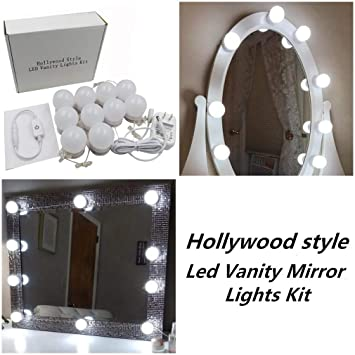 Hollywood Style Led Vanity Makeup Mirror Lights Kit With 10 Dimmable
