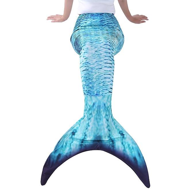CHICTRY Cola de Sirena Mujer para Nadar Bañador Ropa de Baño Mermaid Tail Disfraz de Sirena Adulto Cosplay Swimwear