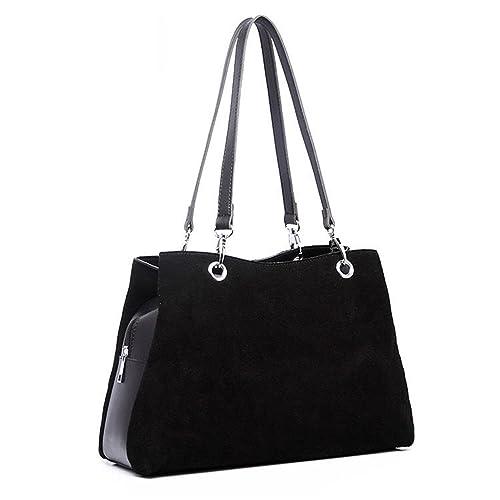 dbb6f2e7cd61 Rick Rogers Women Real Genuine Italian Suede Leather Handbags Ladies  Designer Shoulder Bags Female Vintage Organizer