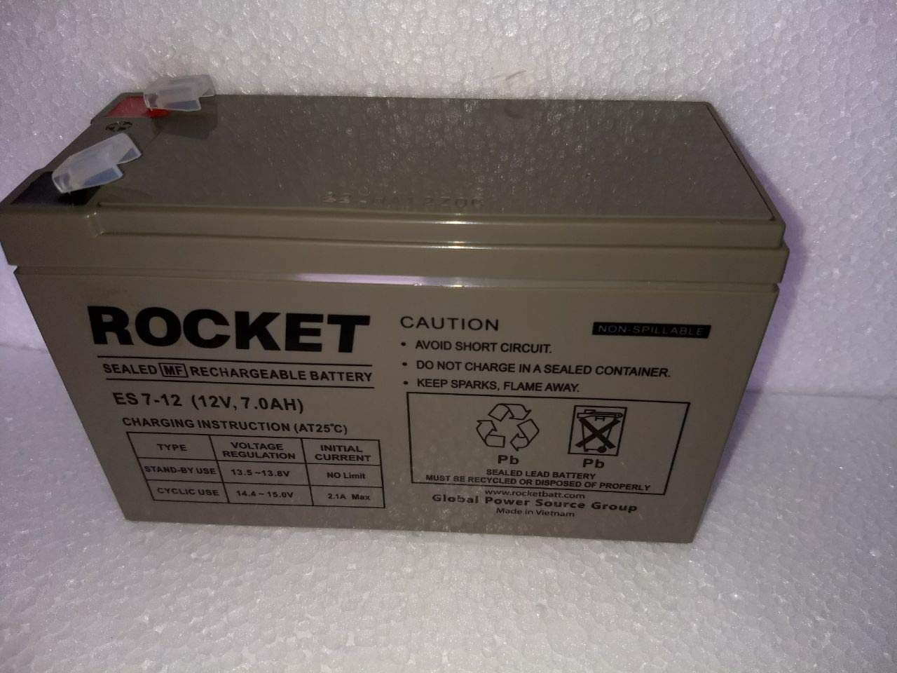 Rocket 12v 7ah Battery Smf Vrla Ups Uninterrupted Power Anti Spark Circuit Built Into The Pack 2 Supplies Buy