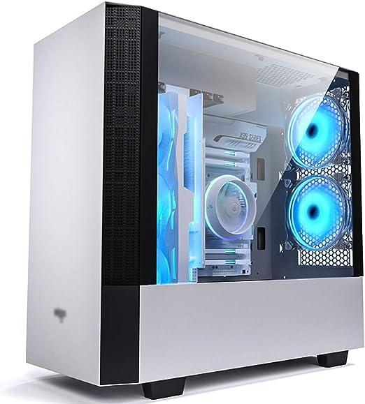 WSNBB Caso De Juego, Semitorre ATX Caja De La Computadora/M-ATX/ITX For Juegos De PC, Vidrio Templado, For La PC De Escritorio del Ordenador, Blanca: Amazon.es: Hogar