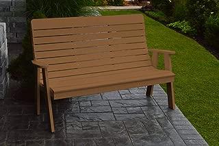 product image for Outdoor Winston Garden Bench - 5 Feet - Cedar Poly Lumber