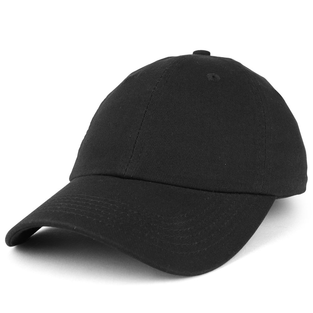 Trendy Apparel Shop Youth Small Fit Bio Washed Unstructured Cotton Baseball Cap - Black