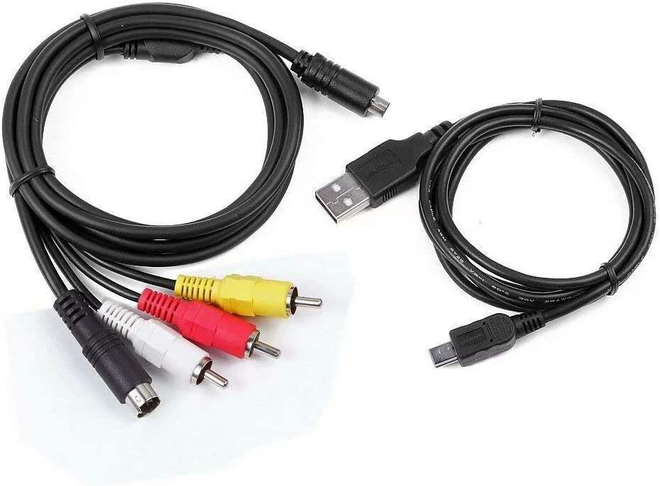 USB Cable Cord for Sony Camcorder Handycam HDR-CX500//v//e Taelectric AV A//V TV Video Audio