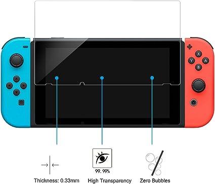 Nintendo Switch Protector de Pantalla,Nintendo Switch Cristal ...