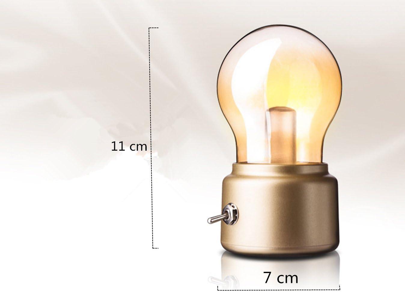 Lámpara de mesa LED, funciona con batería, con cable de carga USB ...