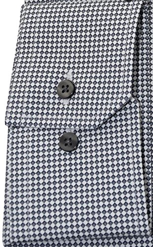 Eterna grau bedrucktes Businesshemd langarm Modern Kent mit Tasche Kollektion Größe 43