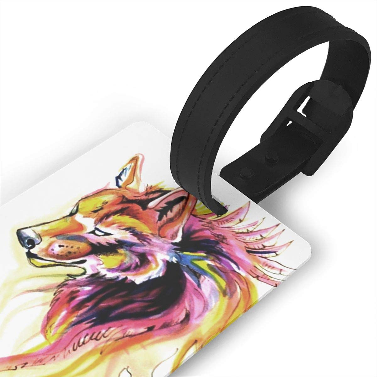 Wolf Handbag Tag For Suitcase Bag Accessories 2 Pack Luggage Tags