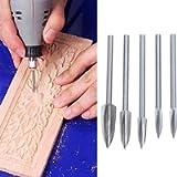 Kiuu Wood Carving Drill Bit, High-Speed Steel Wood Carving Tools Professional Engraving Drill Bits Set for DIY…