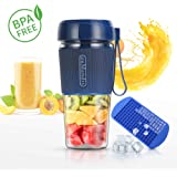 Mini Personal Portable Blender, USB Rechargeable Fruit Juicer Mixer for Home Outdoor Travel Office,BPA Free,10oz/300ml (Blue)