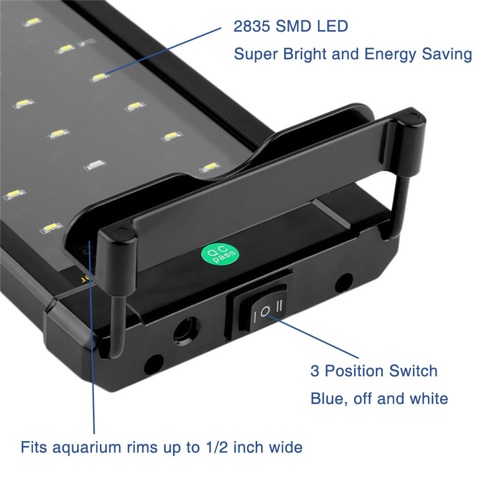 Nicrew LED Aquarium Hood Lighting Fish Tank Light for Freshwater and Saltwater Blue and White Light Amazon.in Pet Supplies  sc 1 st  Amazon.in & Nicrew LED Aquarium Hood Lighting Fish Tank Light for Freshwater and ...