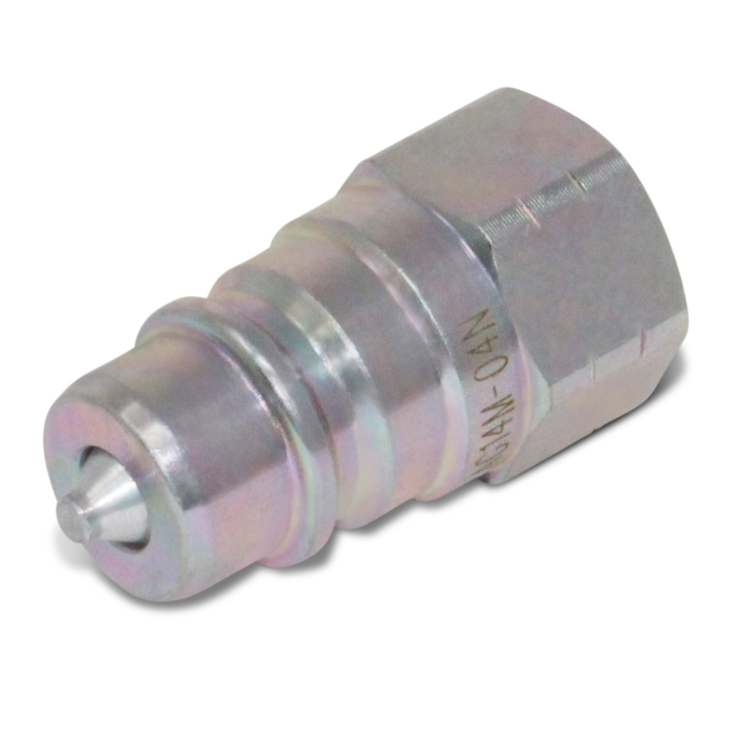 "1//4/"" NPT Thread 1//4/"" Ag ISO 5675 Hydraulic Quick Connect Pioneer Style Couplers 2 Sets"