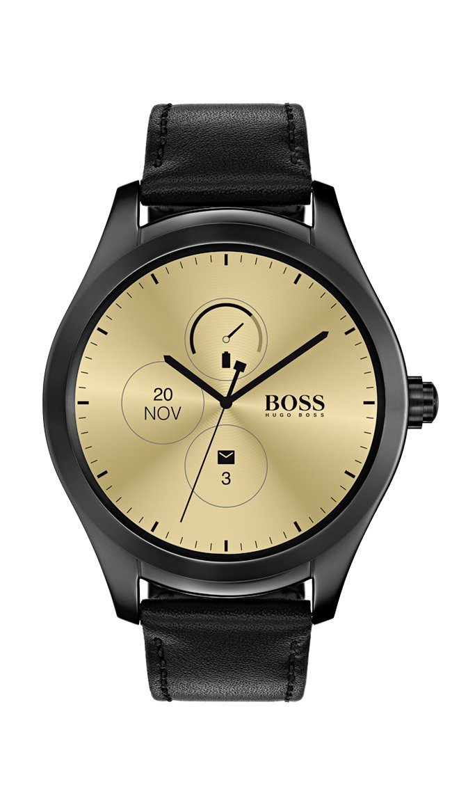 137cf62fd Galleon - Hugo Boss Men's Digital Touch Black Leather Strap Touchscreen  Smartwatch - Model: 1513552