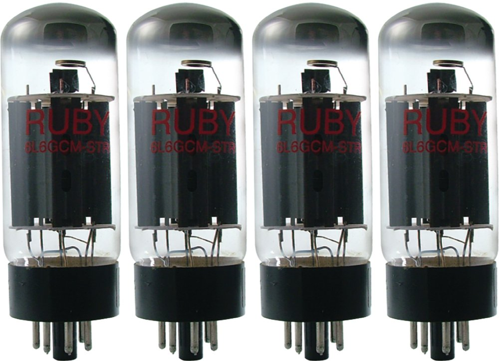 Ruby 6L6GC STR Selected Vacum Tube, Matched Quad