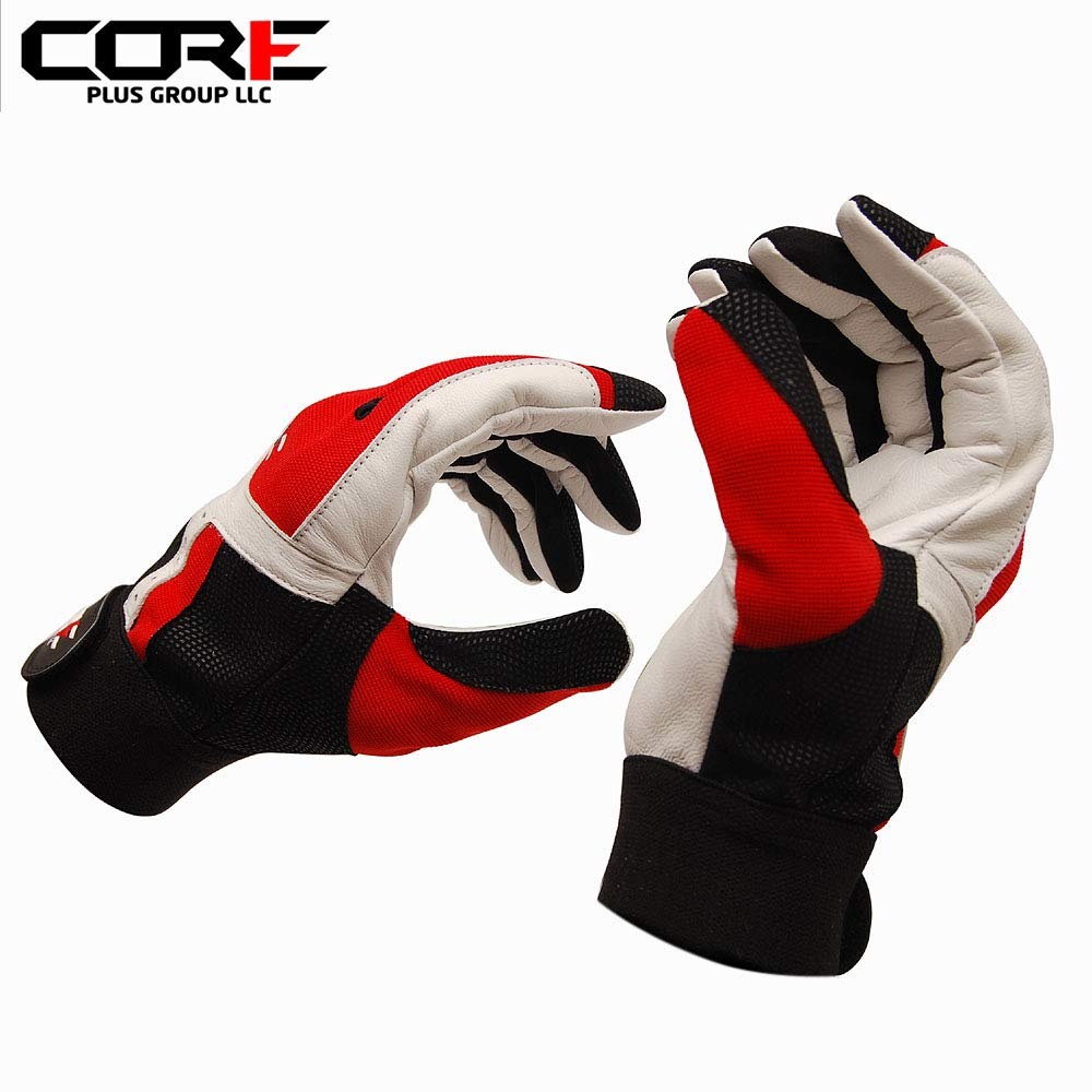Core Plus Black Red アメリカンメンズスポーツ耐久性レザー野球バッティンググローブ Large Red with Black Plus B07L79KN35, FlowerKitchenJIYUGAOKA:66166e24 --- cgt-tbc.fr