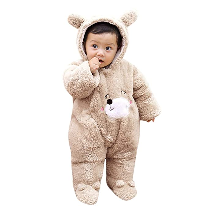 3934898789bad Amazon.com: SUNBIBE👻Baby Snowsuit Newborn Cute Bear Onesie Infant Winter  Fluffy Jumpsuit Romper Thick Hooded Footies Outfit Clothes: Clothing