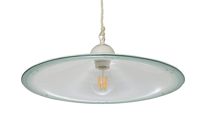 Plafoniere Industriali Diametro 30 : Vanni lampadari lampada a sospensione piatto liscio diametro 40 in