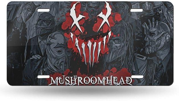 Mushroomhead Logo Novelty License Plate Cover Decorative Vanity Grey Aluminum car tag