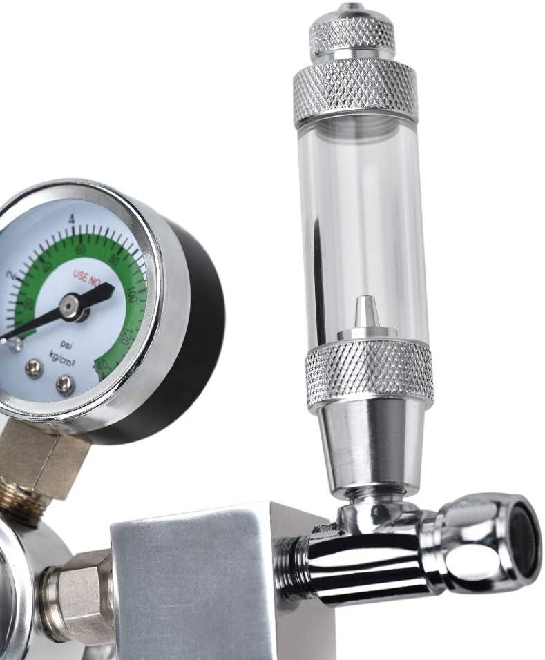 /électrovanne pour plantes aquatiques InLoveArts clapet anti-retour R/égulateur de CO2 fixe R/éducteur de pression W21.8 Interface avec compteur de bulles