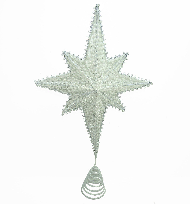 Viscio Trading Casa & Christmas Puntale Filo Stella, Bianco, 5 x 25 x 35 cm Viscio Trading (VISFL) 176863