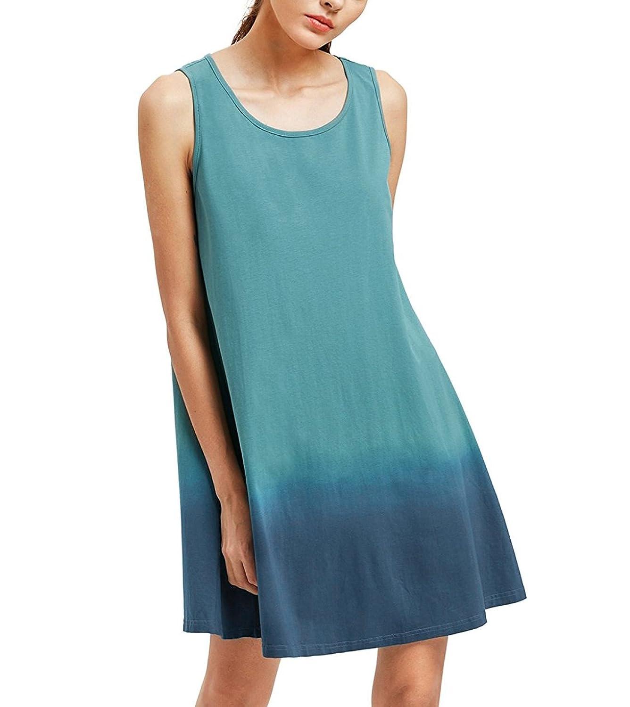 Ehpow Sommerkleid Damen Tunika Swing T-Shirt Kleid Rundhals Mini Strandkleid:  Amazon.de: Bekleidung