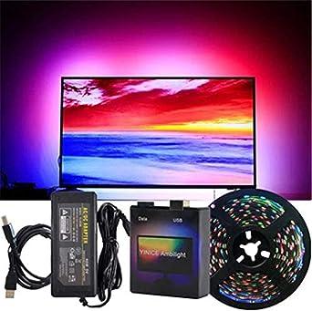 Luces de tira LED Ambilight, pantalla de bricolaje para PC Ambilight TV Dream Screen - Cinta de tira de LED USB Luz de fondo de pantalla 5M waterproof: Amazon.es: Iluminación