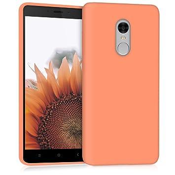 kwmobile Funda compatible con Xiaomi Redmi Note 4 / Note 4X - Carcasa de [TPU silicona] - Protector [trasero] en [coral mate]