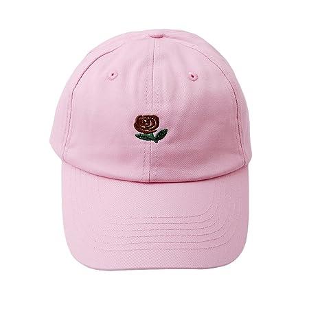 unke rosas lengua Cap coreano gorra de béisbol sombrero, algodón ...