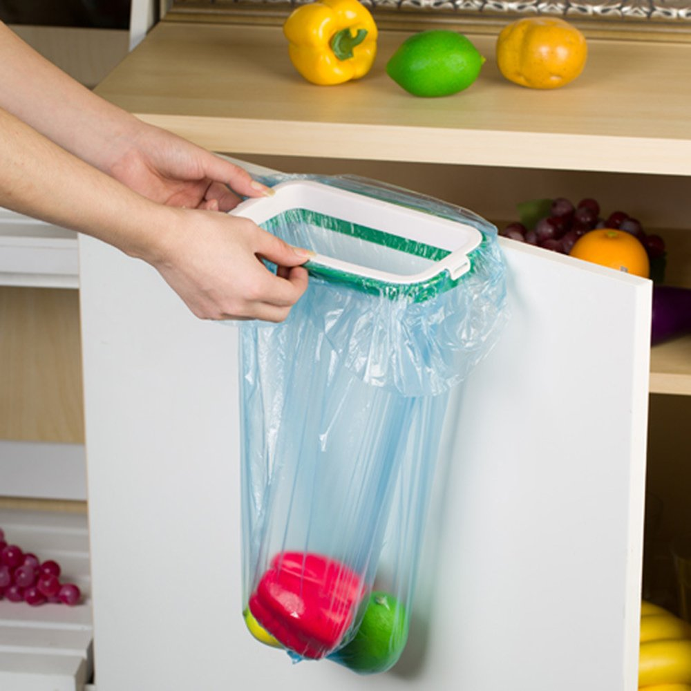 Amazon.com: Kitchen Hanging Clip on Trash Bag Holders Travel Garbage ...