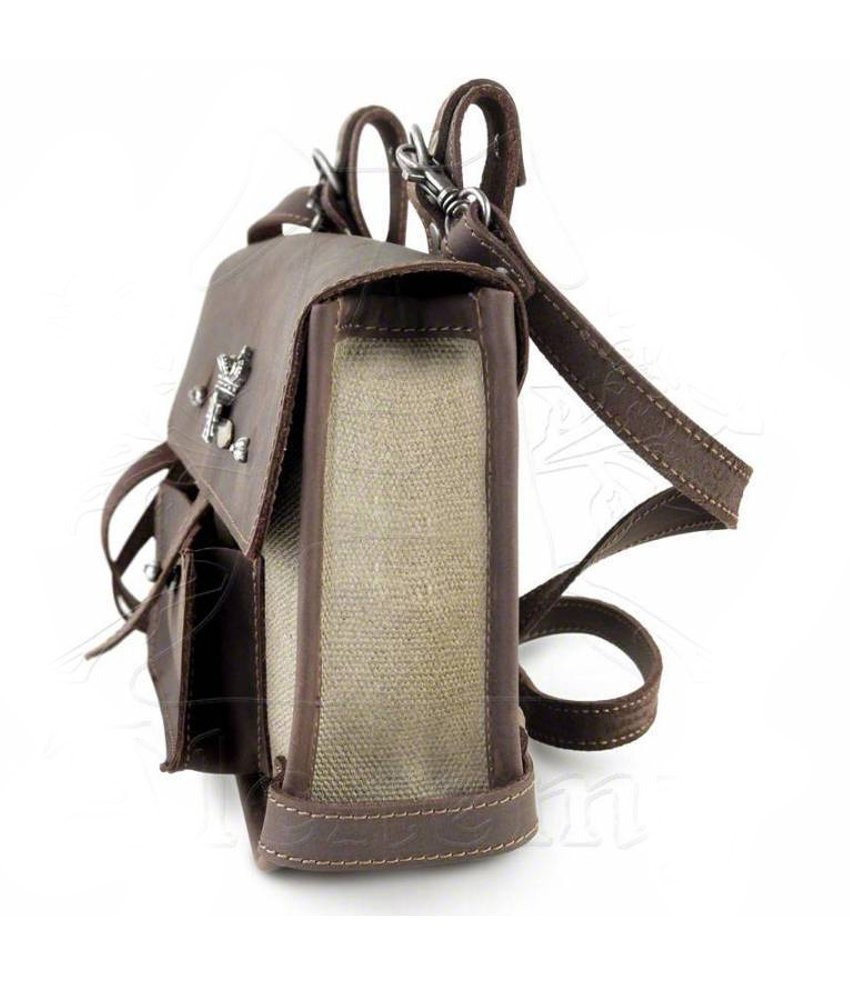 Steampunk Brown Canvas and Leather Wing-Commander's Attache Pouch by Alchemy Gothic by Alchemy Gothic (Image #2)