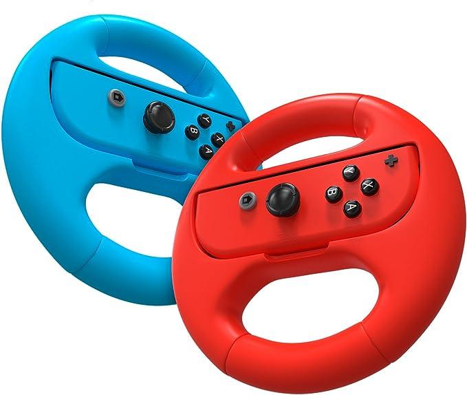 Volante - Nintendo Switch Wheel - Paquete Doble - Azul / Rojo: Amazon.es: Videojuegos