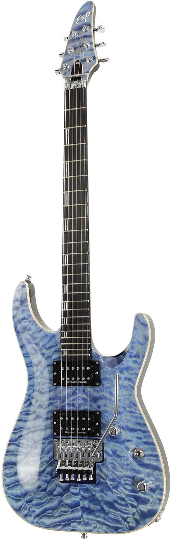 ESP エレキギター HORIZON-CTM FR/QM (Faded Blue w/Blue Pearl Black)   B07GB2CZMH