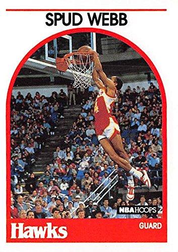 Spud Webb basketball card (Atlanta Hawks Slam Dunking Champion) 1989 NBA Hoops #115