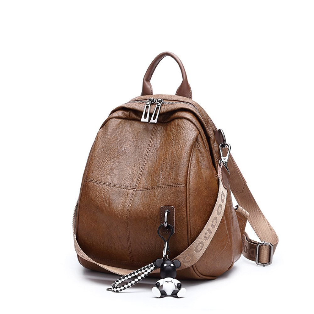 Fashion Simple Shoulder Bag Ladies Backpack Students' Backpack,Caramel