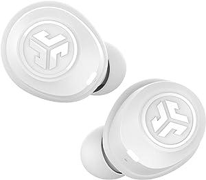 JLab Audio JBuds Air True Wireless Signature Bluetooth Earbuds + Charging Case - White - IP55 Sweat Resistance - Bluetooth 5.0 Connection - 3 EQ Sound Settings: JLab Signature, Balanced, Bass Boost…