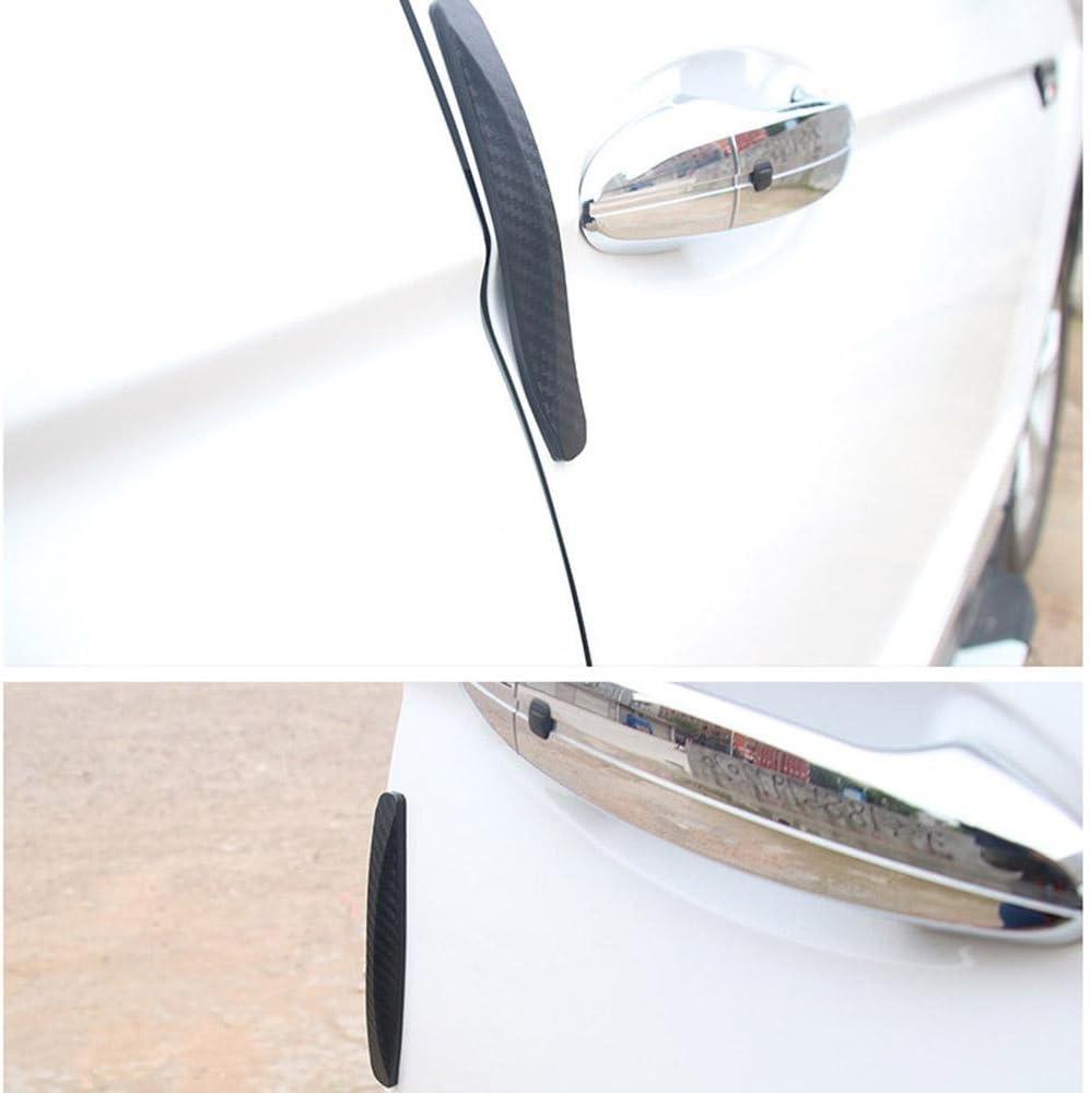 Car Bumper Protector Strip 2 Pair 5.5 Universal Anti-collision Patch Rubber Bumper Guard Strip Adhensive Anti-scratch Bumper Protector Trim for Car Body Corner Protection