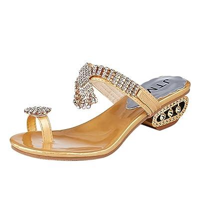 5166156489f9 Internet Flip flops ❤️Women Sandals Flip Flop Fashion Rhinestone Wedges  Shoes Crystal High Heels Shoes (