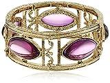 Best 1928 Jewelry Bracelets - 1928 Jewelry Gold-Tone Purple Navette Stretch Bracelet Review