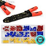 SKEMiDEX---NEW Multi Function Plier 175PC Terminal Connectors Wire Stripper Crimper Cutter. Pliers has mult-function from screw sizer, crimper, wire cutter & wire stripper