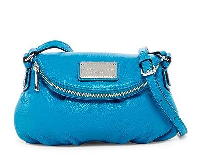 ebf4338921 Amazon.com  Marc by Marc Jacobs Mini Natasha Leather Handbag (Turquoise)   Shoes