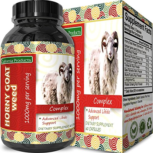 Pure Horny Goat Weed Extract with Maca Powder – Energy Support – Helps Increase Drive & Stamina – Natural Supplement for Men and Women – Tongkat Ali + L-Arginine – 60 Capsules