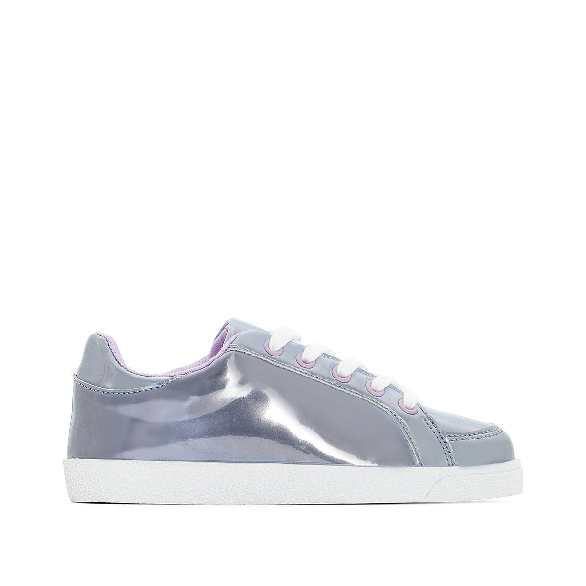 La Redoute Collections Big Girls Metallic Effect Trainers Grey Size 30