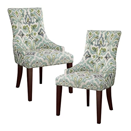 Amazoncom 510 Design Tufted Back Dining Chair Set Of 2 Bluesee
