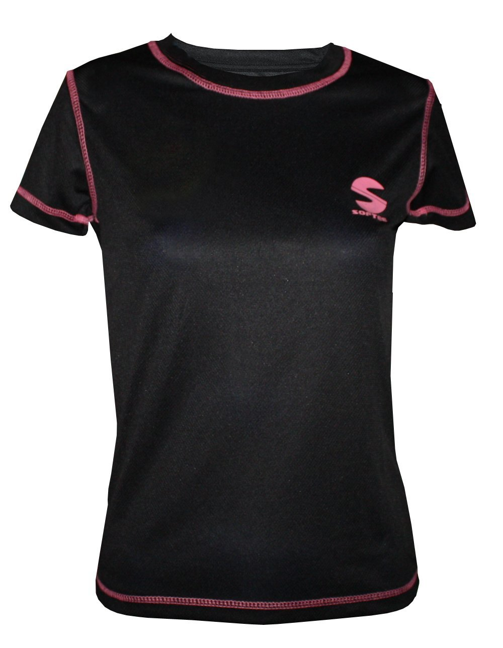 Camiseta Padel Softee Revel Mujer Negro Fucsia: Amazon.es ...