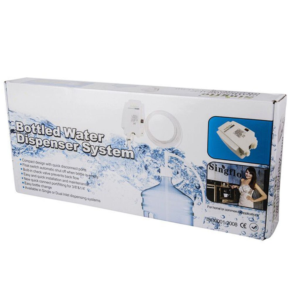 NOPTEG Bottled Water Dispensing System 20 ft Water Dispensing Pump System Single Inlet 115-127V AC for 3 5 6 Gallon Bottle with US Plug by NOPTEG (Image #7)